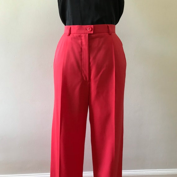 Escada watermelon pink high waisted trousers