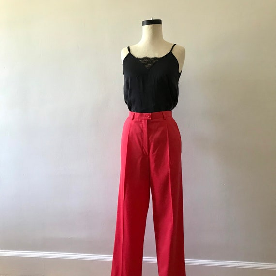 Escada watermelon pink high waisted trousers - image 4