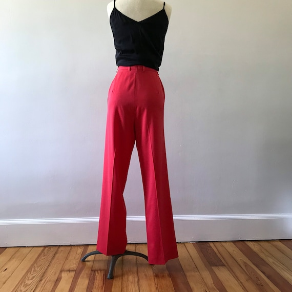 Escada watermelon pink high waisted trousers - image 6