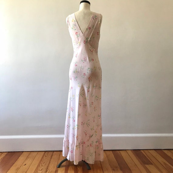 30s floral rayon maxi dress - image 8