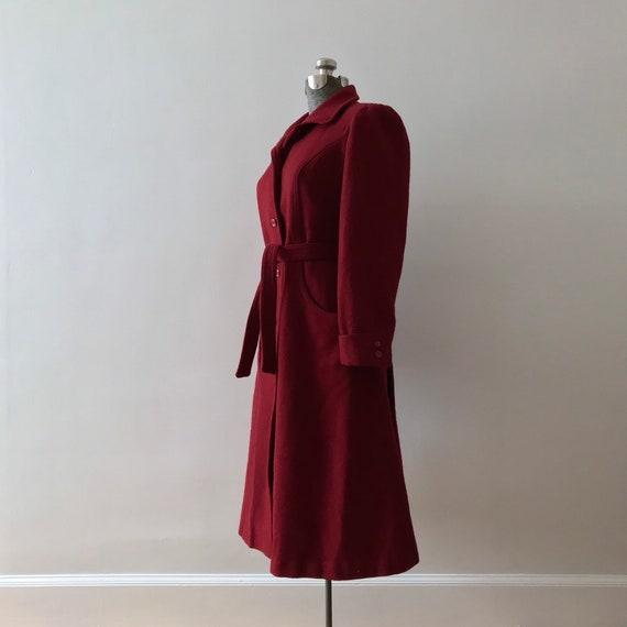Cranberry wool princess maxi coat - image 2