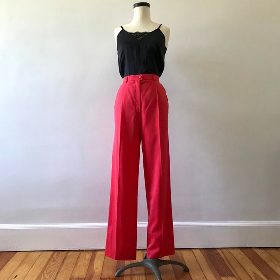 Escada watermelon pink high waisted trousers - image 2