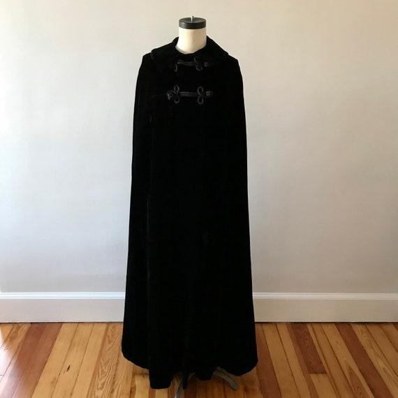 Velvet floor length designer cloak - image 3