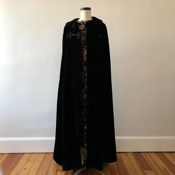 Velvet floor length designer cloak - image 5