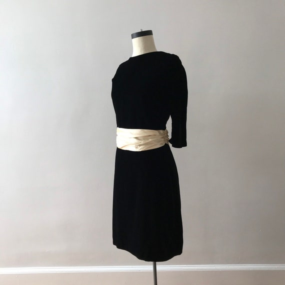 Cotton velvet low back midi dress