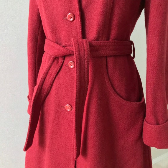 Cranberry wool princess maxi coat - image 1
