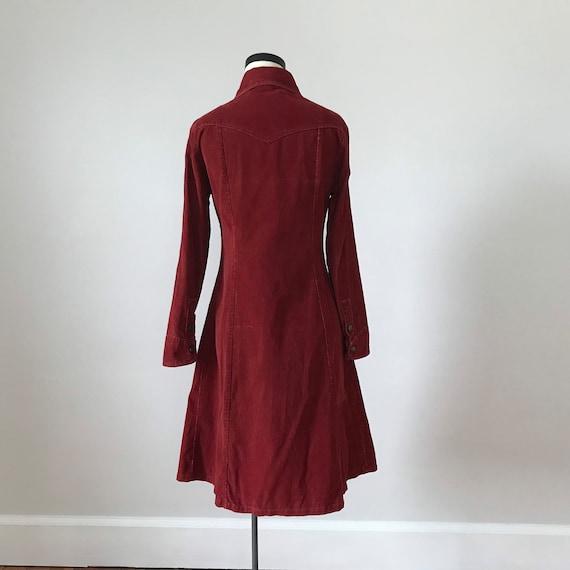 Landlubber rust red corduroy shirt dress - image 8