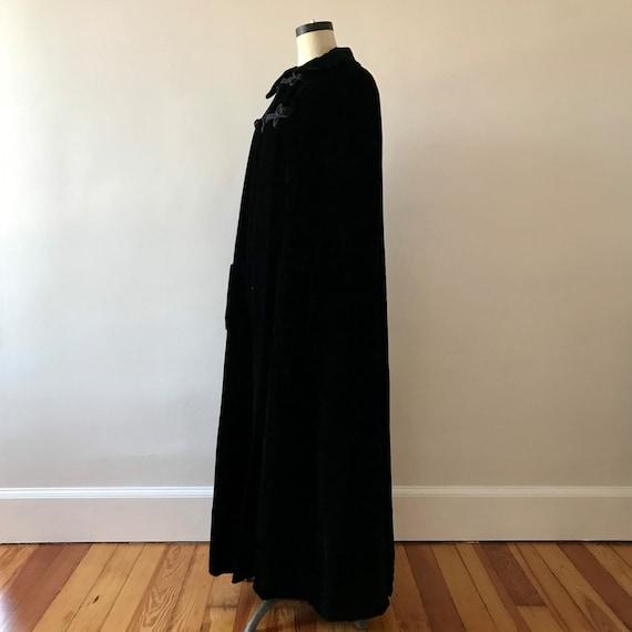 Velvet floor length designer cloak - image 7