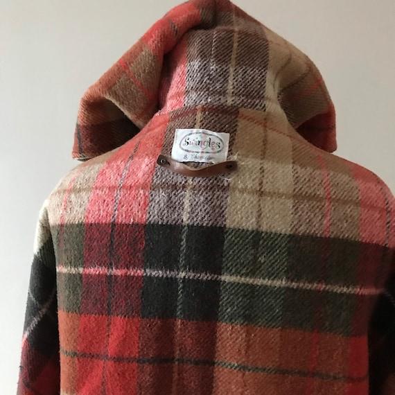 Tweed and plaid wool hooded cloak - image 9
