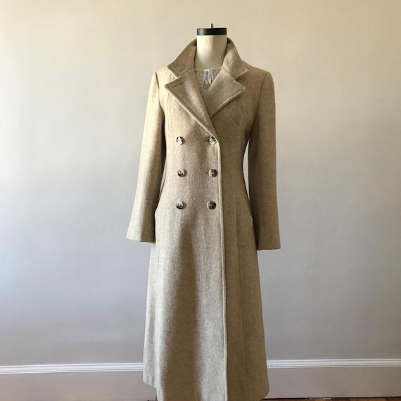 Tweed wool maxi princess coat
