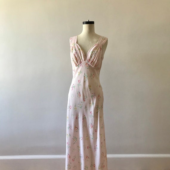 30s floral rayon maxi dress - image 6