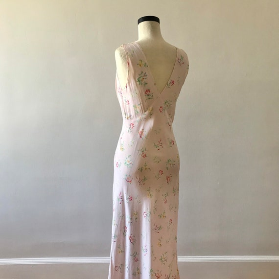 30s floral rayon maxi dress - image 7