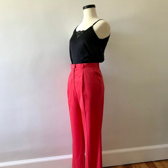 Escada watermelon pink high waisted trousers - image 5