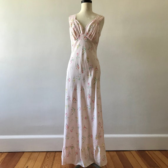 30s floral rayon maxi dress - image 2
