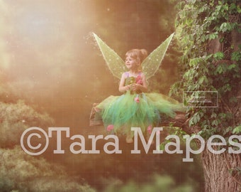 Magical Tree Fairy Branch Digital Background Backdrop