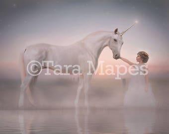 Unicorn by Lake Digital Background