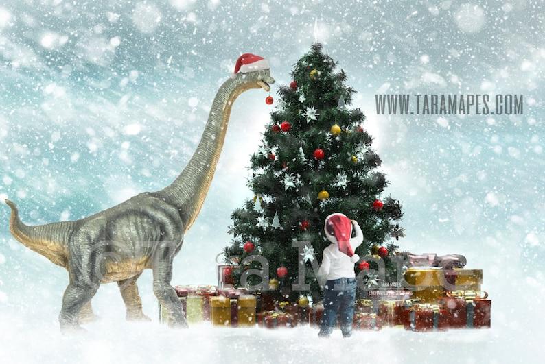 Christmas Dinosaur Decorating Christmas Tree Dino Decorating image 0