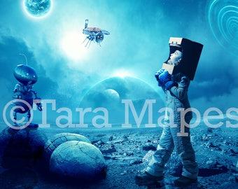 Space Robot Digital Background