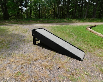 "Tall Handmade Wide Dog Ramp 18"" - 36"" Tall Folding Pet Ramp 14"" W Tall Ramp For Tall Beds Made to Order"