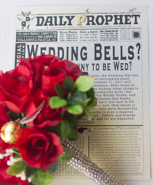 Printable Harry Potter Wedding The Daily Prophet Wedding Etsy