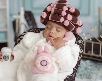 Newborn Photo Prop, Victorian Phone, Pink Felt Telephone, Old Fashioned Telephone, Pink Phone