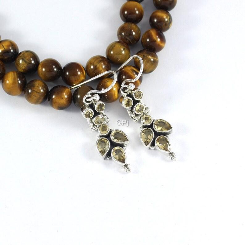 Amethyst Garnet Peridot Citrine Iolite Blue Topaz Rainbow Labradorite Cut Stone Earring Free Shipping 925 Sterling Silver Handmade Jewelry