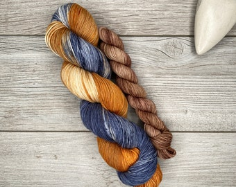 SOCK SET - Roasting Marshmallows - Hand Dyed Yarn - Hand Painted - Variegated Yarn - Autumn, Fall, Halloween