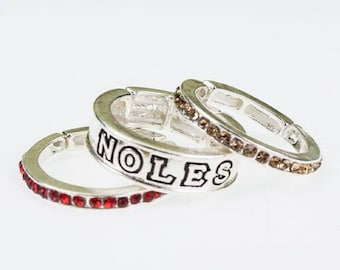 Florida State Stackable Stretch Ring Trio Set
