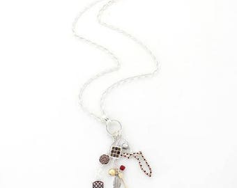 """Florida State Traditions Cluster Necklace 30"""""""