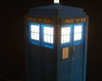 Tardis Lamp Light Night ONLY ONE LEFT! Dr Who Nightlight Awesome Geek Gift  Birthday Gift