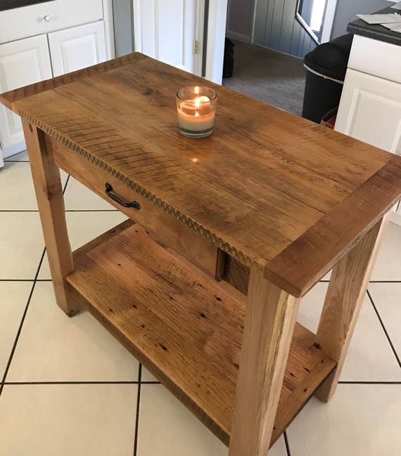 Kitchen Island/ Reclaimed barn wood