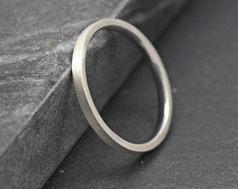 Wedding Ring Womens Silver Wedding Band 2mm Solid Sterling Etsy