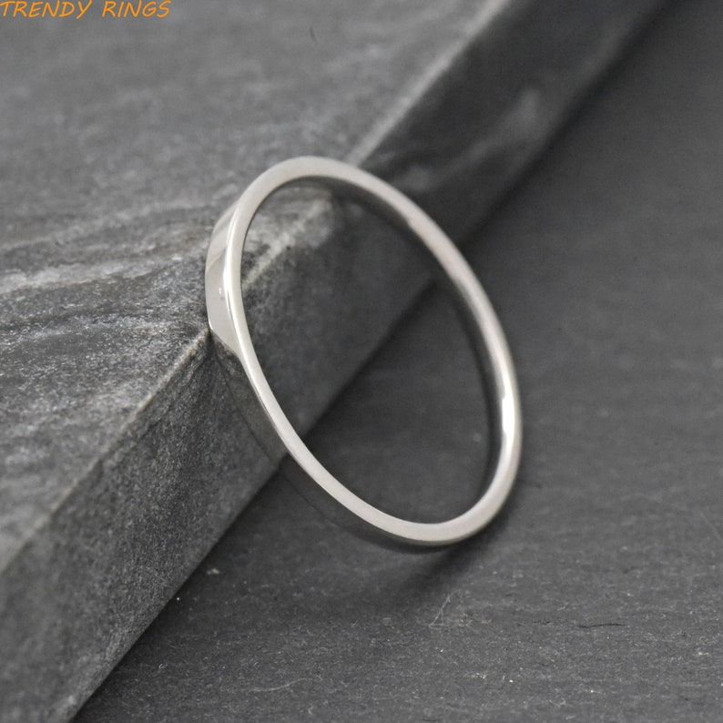 3f21c9c01bba4 Wedding Ring, Womens Silver Wedding Band, 2mm Solid Sterling Silver Burshed  Wedding Band Womens, Ring Band, Womens Thin Engagement Ring