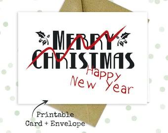 Late christmas card   Etsy