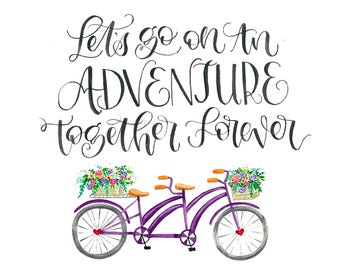 Adventure/Bike digital Print