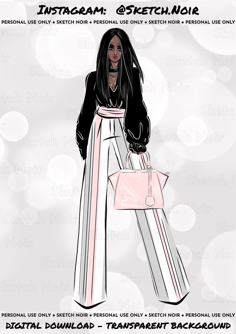 Fashion Illustration Clipart African American Clipart Boss Lady Clipart Office Clip Art Fashion Girl Clipart Fashion Clip Art Die Cuts