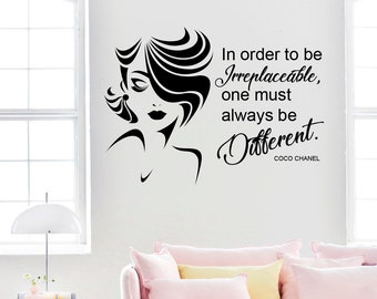 fcc126014c0 Coco Chanel quote wall decal