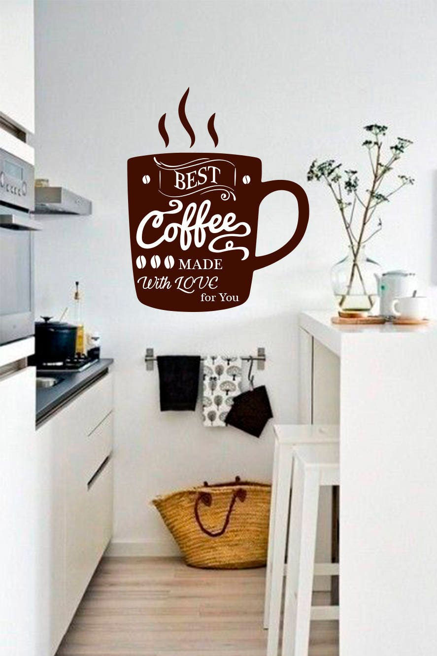 Wall Decals Stickers Coffee Tea Cups Mugs Vinyl Decal Wall Sticker Kitchen Dining Room Decor Gronn Com Br