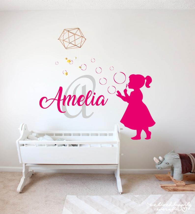 Beautiful Princess Amelie Large Wall Sticker//Vinyl Bed Room Art Girl//Baby