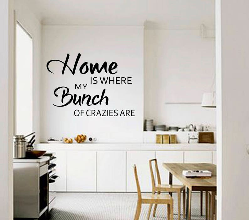MY NEXT HOUSE .. FUNNY KITCHEN DINING ROOM QUOTE WALL ART DECAL STICKER VINYL