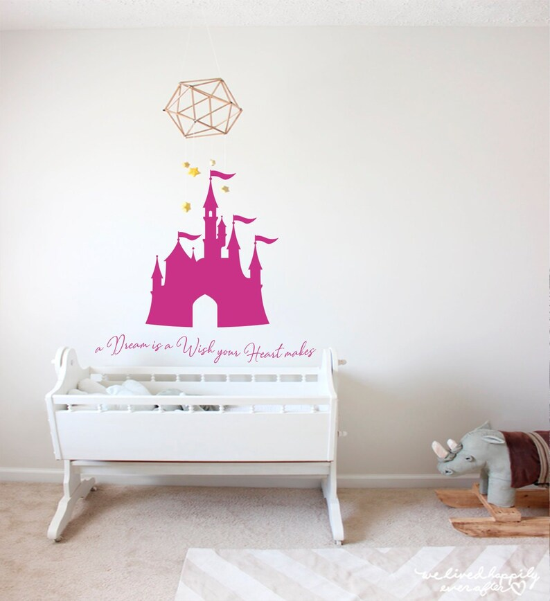 disney wall decal girl nursery decal princess castle decal | etsy
