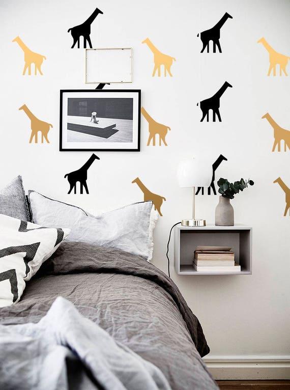 giraffe wall decals-giraffes vinyl decal-nursery wall | etsy