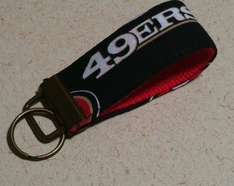49ers key chain nfl key fob dad gift idea key chain for men for him christmas gift idea teacher gift