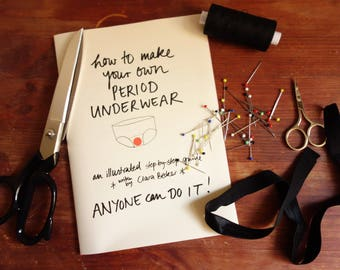DIY Period Underwear Zine