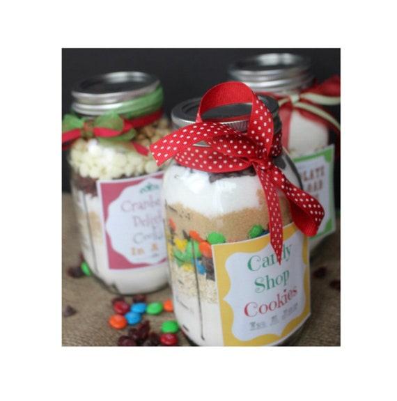Christmas Cookie Mixes Party Favors Mason Jar Cookie Mix Favor