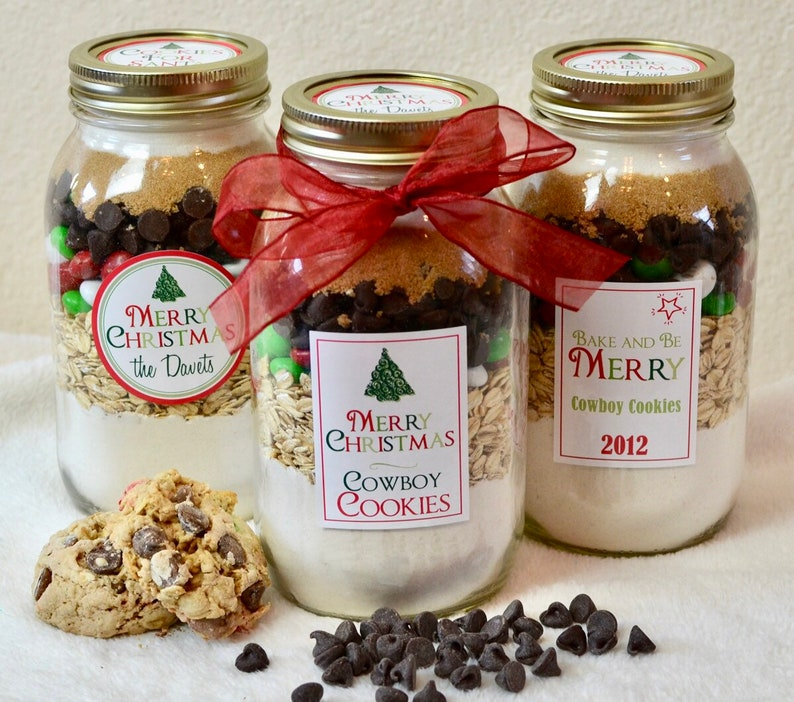 Cowboy Christmas Cookies Mason Jar Cookie Mix