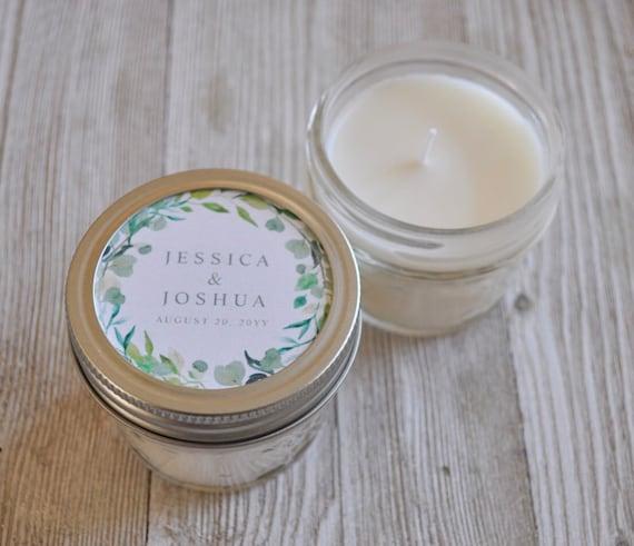 10 4 Oz Mason Jar Candle Favors Wedding Candle Favors Etsy