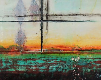 SALE~Encaustic Painting Seven