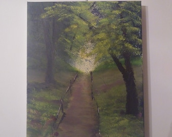 spring path oil on canvas