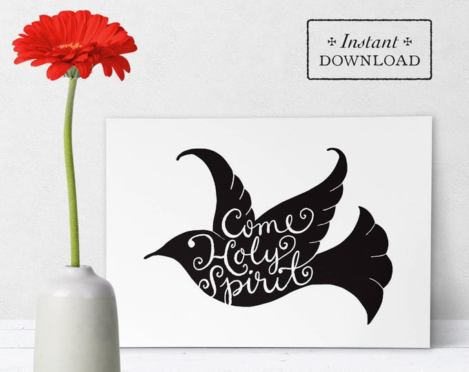 "Catholic Confirmation Greeting Card Black & White - Instant Download - DIY Downloadable PDF 5""x7"""